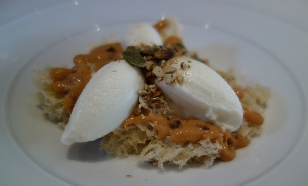 Sour cream, pumpkin and salted caramel